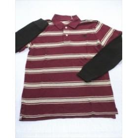 ギャップ GAP ポロシャツ 長袖 160cm 紫系 アメカジ ボーダー トップス 男の子 キッズ ジュニア 子供服 通販 買い取り