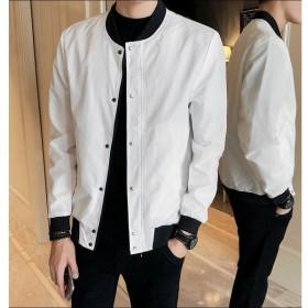 ミリタリージャケット MA-1ジャケット ジップアップ ブルゾン 長袖 薄手 アウター 上着 メンズ スナップボタン ジャンパー ジャンバー おしゃれ