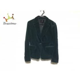 ニジュウサンク 23区 ジャケット サイズ38 M レディース 美品 ターコイズグリーン コーデュロイ         スペシャル特価 20190523
