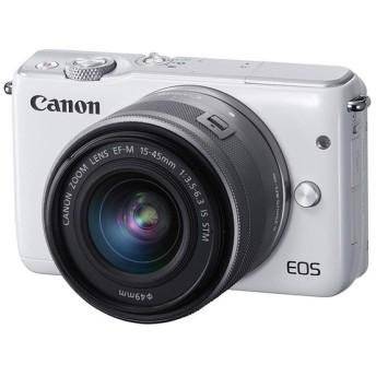 キヤノン Canon ミラーレス一眼カメラ EOS M10 レンズキット ホワイト EOSM10WH-1545ISSTMLK