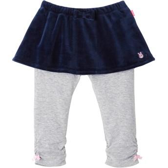 ミキハウス キャビットちゃん ベロアスカート付パンツ 紺