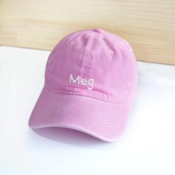 [Q-cute]帽子シリーズ-カスタム英字/レトロスタイルの野球帽(カスタム-7文字以下)