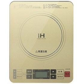 小泉成器 卓上型IH調理器(1口) KIH‐1403‐N (ゴールド)
