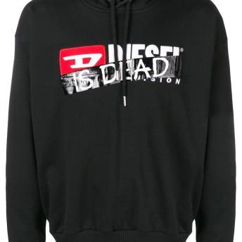Diesel 'Is dead' printed hoodie - ブラック
