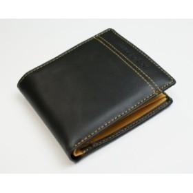 JACQUES POIRIER/ジャックポワリエ 牛革 メンズ 折財布 JP5002/JP-5002 ブラック[ゆうパケット発送、送料無料、代引不可]