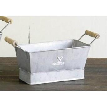 多肉植物入れにいかが♪LE JARDIN(ル・ジャルダン)◆RECT POT S◆ブリキプランター◆ポット◆鉢カバー