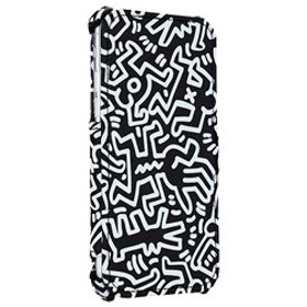 iPhone 8/7用 Keith Haring Flip Cover Chaos APA15-001CBKWH Black/White