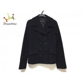アンタイトル UNTITLED Pコート サイズ2 M レディース 黒 冬物   スペシャル特価 20190911【人気】