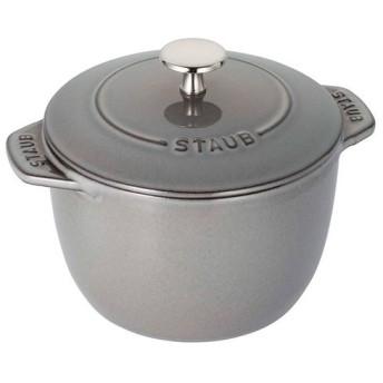 staub ストウブ ラ ココット de GOHAN グレー M 16cm ご飯鍋 IH対応 日本正規販売品 40509-703