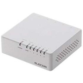 エレコム スイッチングハブ「5ポート・100/10Mbps・ACアダプタ」プラスチック筐体 EHC‐F05PA‐W (ホワイト)