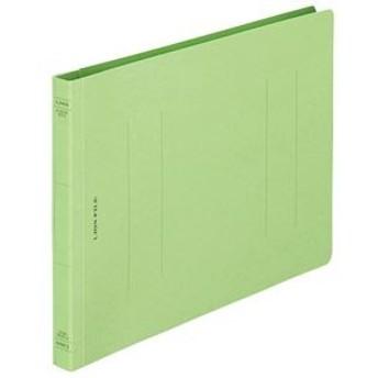 (まとめ) ライオン事務器 フラットファイル(環境) 樹脂押え具 B5ヨコ 150枚収容 背幅18mm 緑 A-529KB5E