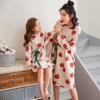 親子ペア 秋 パジャマ 長袖 親子装 家族服 ルームウェア パジャマ 女の子 可愛い キッズ レディース お揃い 部屋着 寝巻き プレゼント