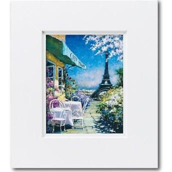 ユーパワー マルコ マヴロヴィッチ アートフレーム 「パリのカフェ」 Sサイズ MM-02502