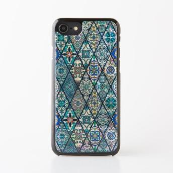 iPhone/Xperia/Galaxyスマホケース(ブルーモロッコタイル)[天然貝ケース・螺鈿アート]
