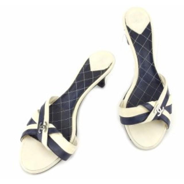 9812583d7455 シャネル CHANEL サンダル 靴 シューズ レディース ココマーク 【中古】 T4978