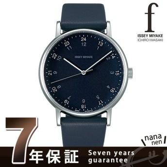 イッセイミヤケ f エフ 日本製 革ベルト 39mm メンズ 腕時計 NYAJ006 ISSEY MIYAKE ミッドナイトブルー