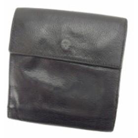 5c66935b0b47 プラダ PRADA 二つ折り財布 財布 小物 サイフ Wホック財布 レディース ロゴ 【中古】