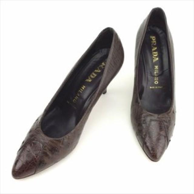 212cf77491b3 プラダ PRADA パンプス シューズ 靴 レディース オーストリッチ 【中古】 D1900