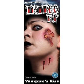 傷タトゥーシール(Vampire kiss) ハロウィン コスチューム コスプレ 衣装 仮装 ハロウィーン メイクグッズ 怪我 特殊メイク ホラー