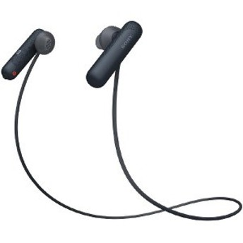ソニー SONY ブルートゥースイヤホン インナーイヤー型 WI-SP500 BQ ブラック [防滴 /Bluetooth]