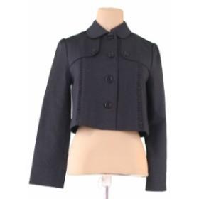 バーバリー BURBERRY ジャケット 上着 服 大人可 入学 卒業式 レディース ミニフリル 【中古】 T695