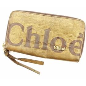 3056cf2bcf63 クロエ Chloe 長財布 財布 小物 サイフ ラウンドファスナー レディース メンズ 可 エクリプス 【中古】