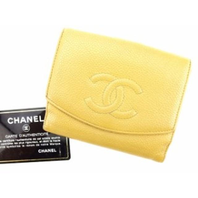 d7b40889109f シャネル CHANEL Wホック財布 財布 小物 サイフ 二つ折り 財布 小物 メンズ可 キャビアスキン