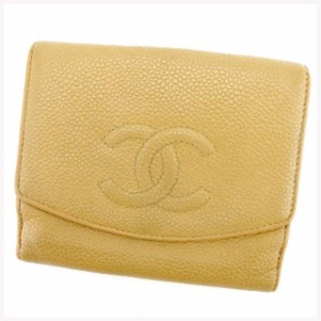7a177318c101 シャネル CHANEL Wホック財布 財布 小物 サイフ 二つ折り財布 レディース メンズ 可 キャビアスキン