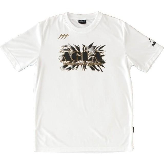 AGLA(アグラ) サッカー・フットサルウェア Tシャツ AG18100 ホワイト L