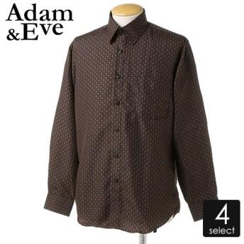 ADAM & EVEプリント長袖シャツ2型 メンズ