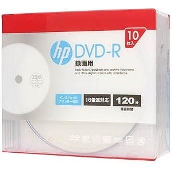 HP 録画用DVD-R 1-16倍速 4.7GB 10枚(インクジェットプリンタ対応) DR120CHPW10A