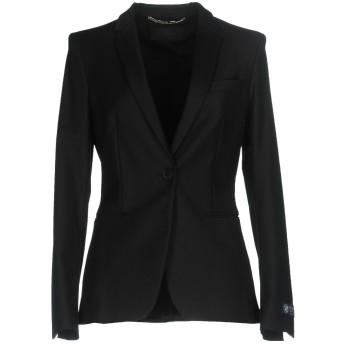 《期間限定セール開催中!》LES COPAINS レディース テーラードジャケット ブラック 40 コットン 50% / ナイロン 46% / ポリウレタン 4%