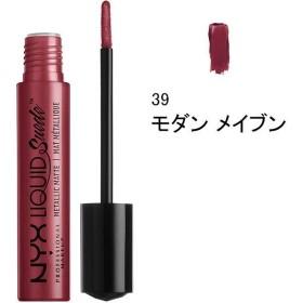 NYX Professional Makeup(ニックス) リキッド スエード クリーム リップスティック メタリック マット 39 カラー・モダン メイブン