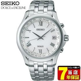 DOLCE & EXCELINE ドルチェ&エクセリーヌ SEIKO セイコー 電波ソーラー SADZ201 メンズ 腕時計 国内正規品 ホワイト シルバー チタン メタル