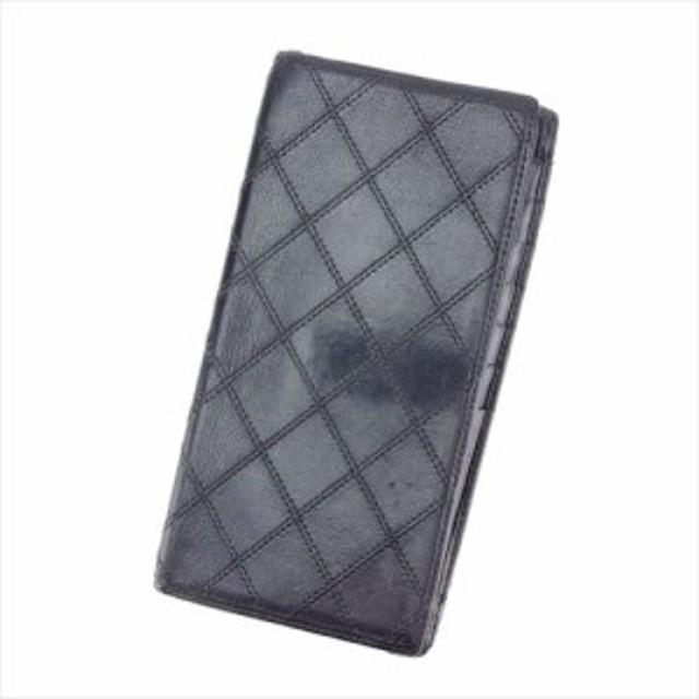 b6f9d984156a シャネル CHANEL 二つ折り 札入れ 長財布 メンズ可 ビコローレ 【中古】 T7384