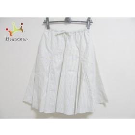 アングリッド UNGRID スカート サイズF レディース 白×ネイビー ストライプ           スペシャル特価 20191026