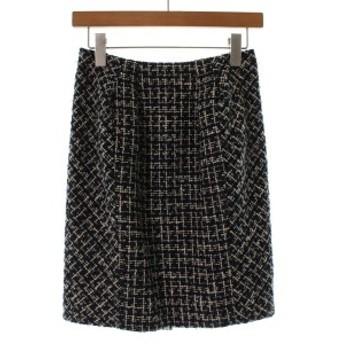 UNTITLED / アンタイトル レディース スカート 色:紺xアイボリーx黒(ツイード) サイズ:1(S位)