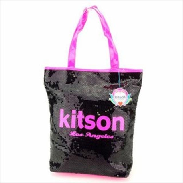 3895fee71d89 キットソン kitson トートバッグ バッグ バック トート ショルダーバッグ レディース スパンコール 【中古】 P748