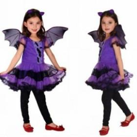 ハロウィン コスプレ 子供 悪魔 吸血鬼 ハロウィン 衣装 コウモリ コスプレ コスチューム 魔女 小悪魔 デビル 子供服 女の子 仮装
