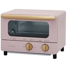 アイリスオーヤマ オーブントースター 「ricopa」 [1000W/食パン2枚] EOT-R1001-PA アッシュピンク