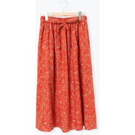 【6,000円(税込)以上のお買物で全国送料無料。】壁紙風花柄スカート