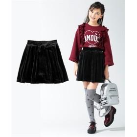あったかベロアパンツインスカート(女の子 子供服。ジュニア服) キュロット・パンツインスカート・スカート