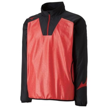 MIZUNO SHOP [ミズノ公式オンラインショップ] テックシールドシャツ[ユニセックス] 96 ブラックxタンゴレッド P2ME8526