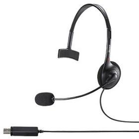 バッファロー 片耳ヘッドバンド式ヘッドセット USB接続 BSHSHUM110BK ブラック