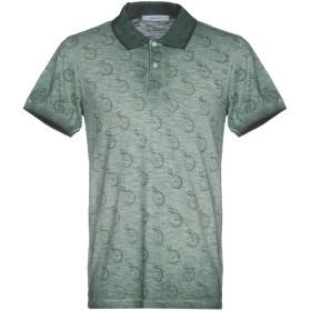 《送料無料》HAMAKI-HO メンズ ポロシャツ グリーン S コットン 100%