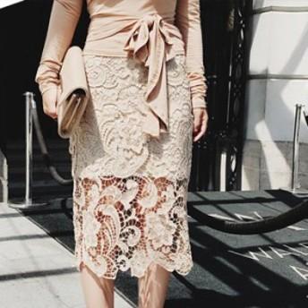 花柄刺繍のエレガントなひざ丈スカート 送料無料 お呼ばれ 大人かわいい ワンピース 結婚式 ドレス フォーマルドレス パーティードレス