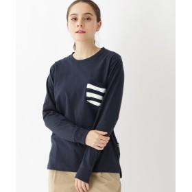 BASECONTROL ベースコントロール 長袖Tシャツ ニットポケット レディース