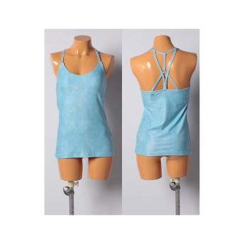 VacaSta Swimwear 【RUSTY Yoga】ヨガ 水陸両用 クロスコードキャミソール(ブルー)【返品不可商品】
