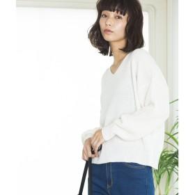 WEGO Vネックセーター(オフホワイト)【返品不可商品】
