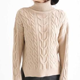 ニット・セーター - Bifrost ケーブルニット/ニット/セーター/タートルネック/ゆったり/サイドスリット/韓国ファッション